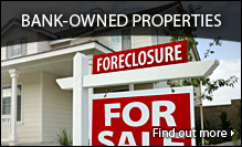 Search your area for foreclosures and bank-owned property